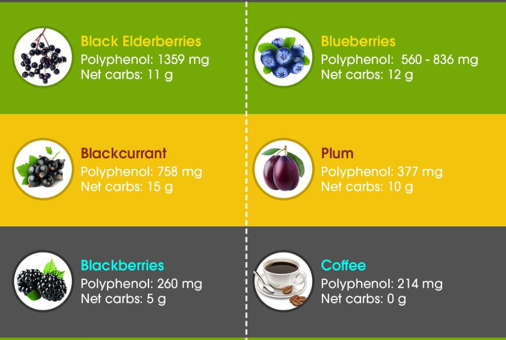 Polyphenol Content Of Foods And Drink
